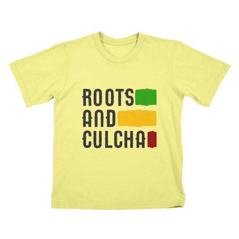 Roots and Culcha (Dark) Kids T-shirt by Rasta University Shop