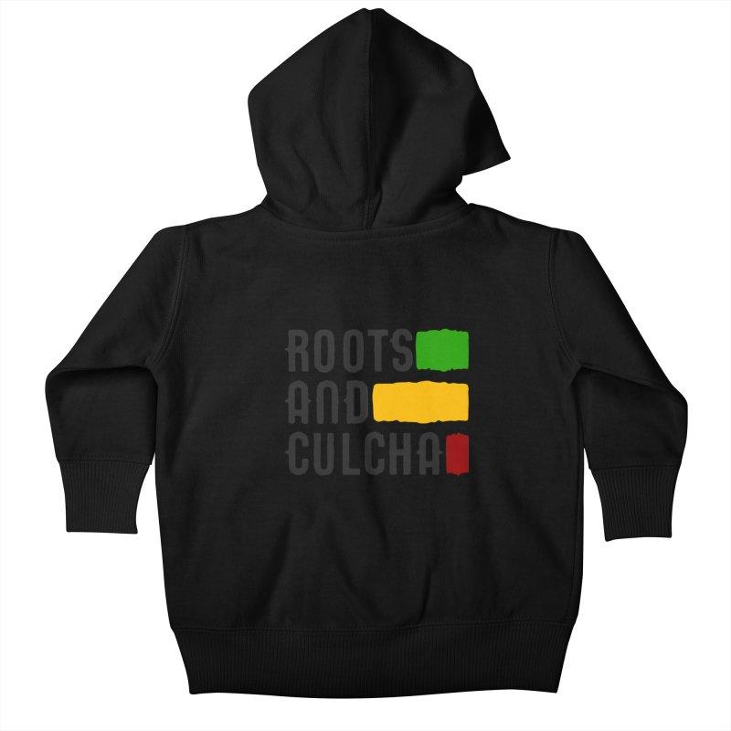Roots and Culcha (Dark) Kids Baby Zip-Up Hoody by Rasta University Shop
