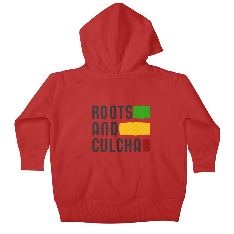 Roots and Culcha (Dark) Kids Baby Zip-Up Hoody by Rasta University Shop