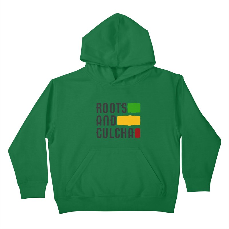 Roots and Culcha (Dark) Kids Pullover Hoody by Rasta University Shop