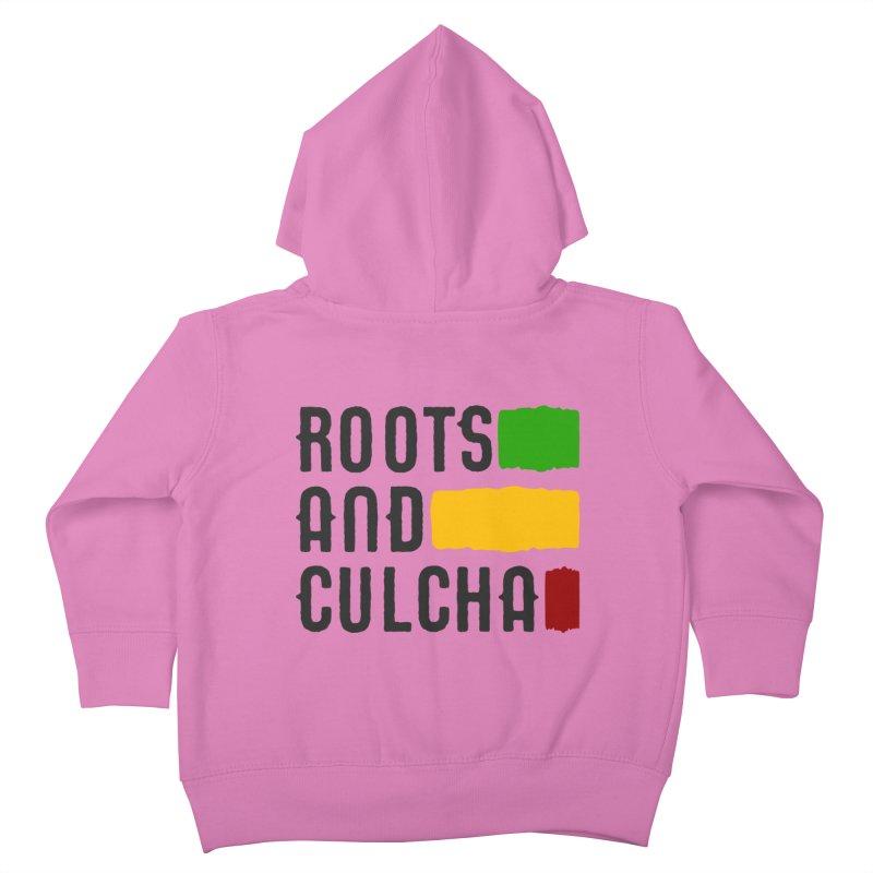Roots and Culcha (Dark) Kids Toddler Zip-Up Hoody by Rasta University Shop