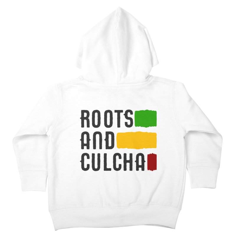 Roots and Culcha (Dark) Kids Toddler Zip-Up Hoody by Rasta University Shop