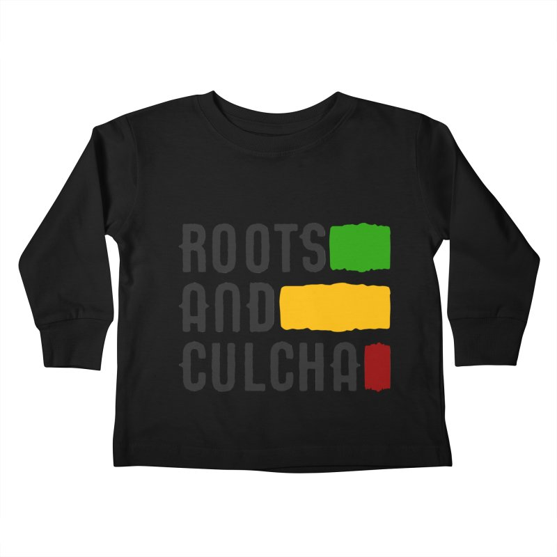Roots and Culcha (Dark) Kids Toddler Longsleeve T-Shirt by Rasta University Shop
