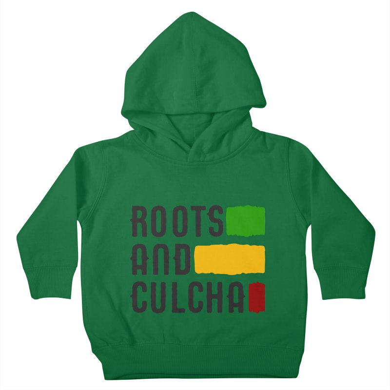 Roots and Culcha (Dark) Kids Toddler Pullover Hoody by Rasta University Shop