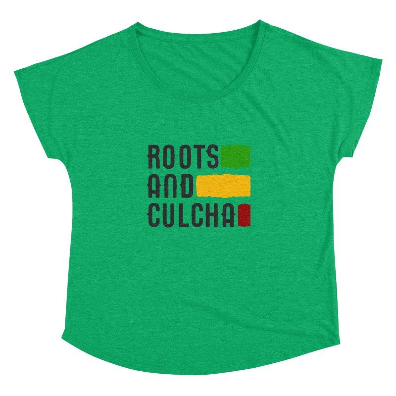 Roots and Culcha (Dark) Women's Dolman Scoop Neck by Rasta University Shop