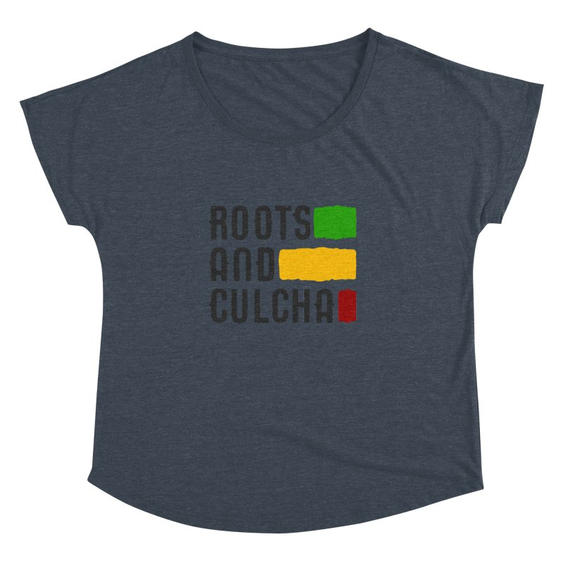 Roots and Culcha (Dark) Women's Dolman Scoop Neck by Rasta University Shop