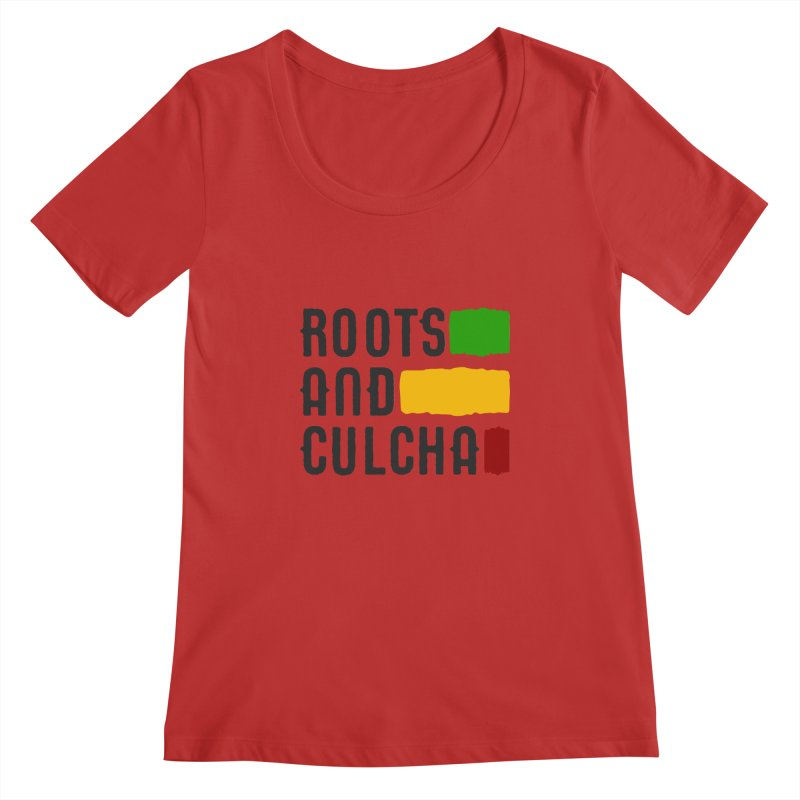 Roots and Culcha (Dark) Women's Scoopneck by Rasta University Shop