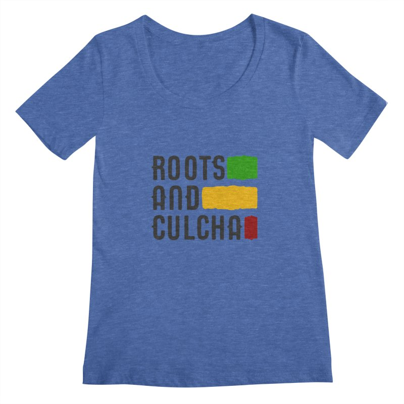 Roots and Culcha (Dark) Women's Regular Scoop Neck by Rasta University Shop