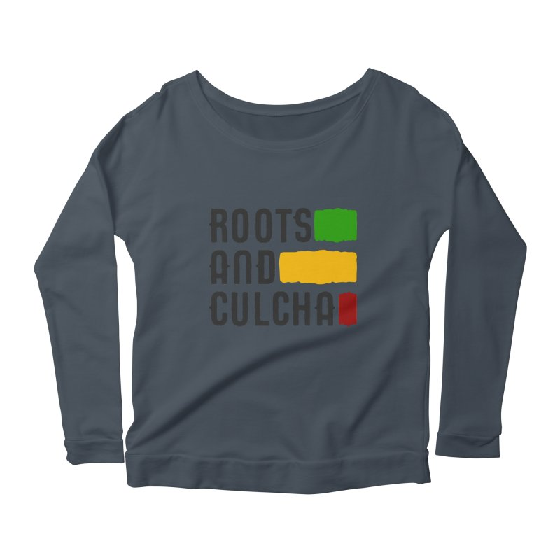 Roots and Culcha (Dark) Women's Scoop Neck Longsleeve T-Shirt by Rasta University Shop
