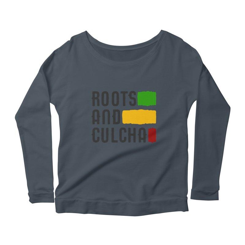 Roots and Culcha (Dark) Women's Longsleeve Scoopneck  by Rasta University Shop