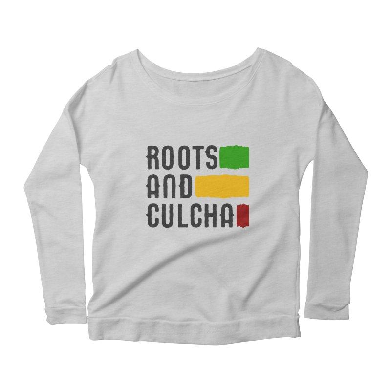 Roots and Culcha (Dark) Women's Scoop Neck Longsleeve T-Shirt by Rasta University Shop