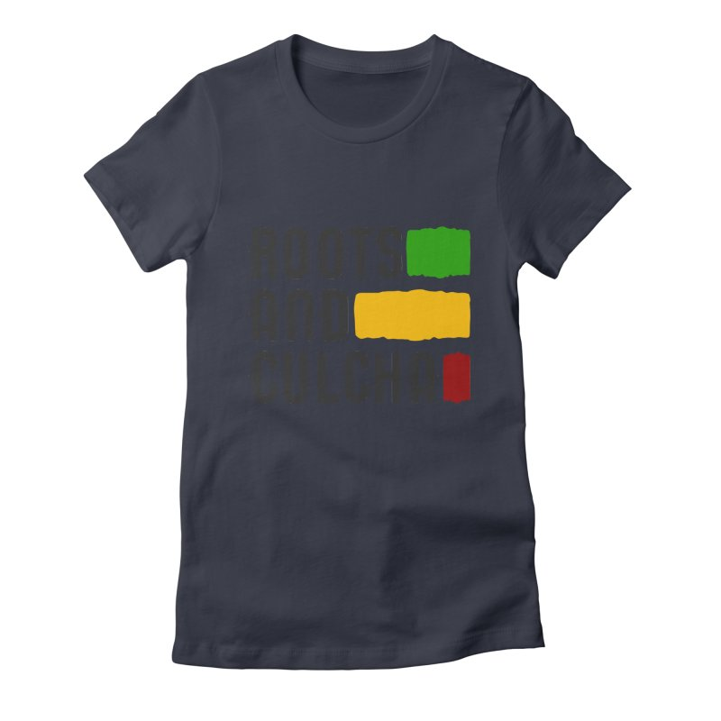 Roots and Culcha (Dark) Women's Fitted T-Shirt by Rasta University Shop