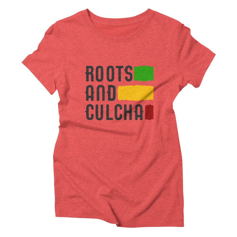 Roots and Culcha (Dark) Women's Triblend T-Shirt by Rasta University Shop