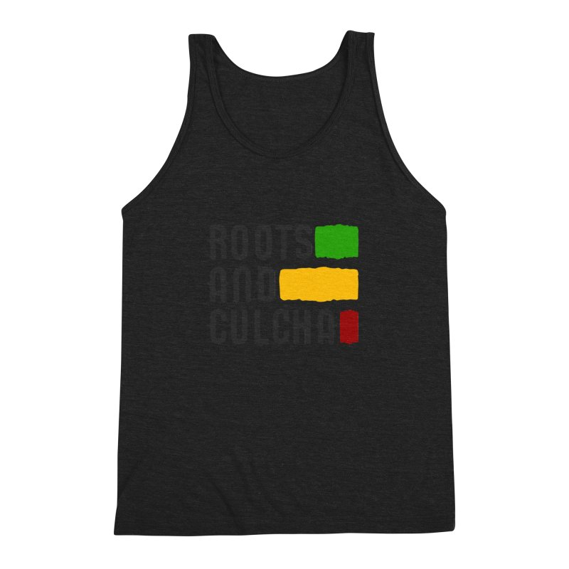 Roots and Culcha (Dark) Men's Triblend Tank by Rasta University Shop