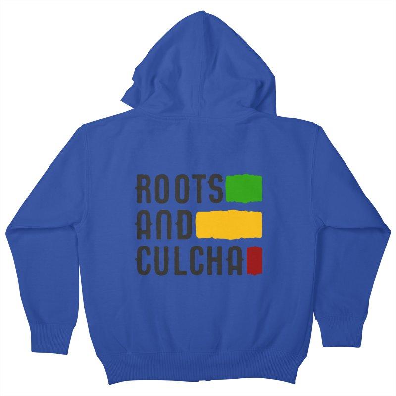 Roots and Culcha (Dark) Kids Zip-Up Hoody by Rasta University Shop