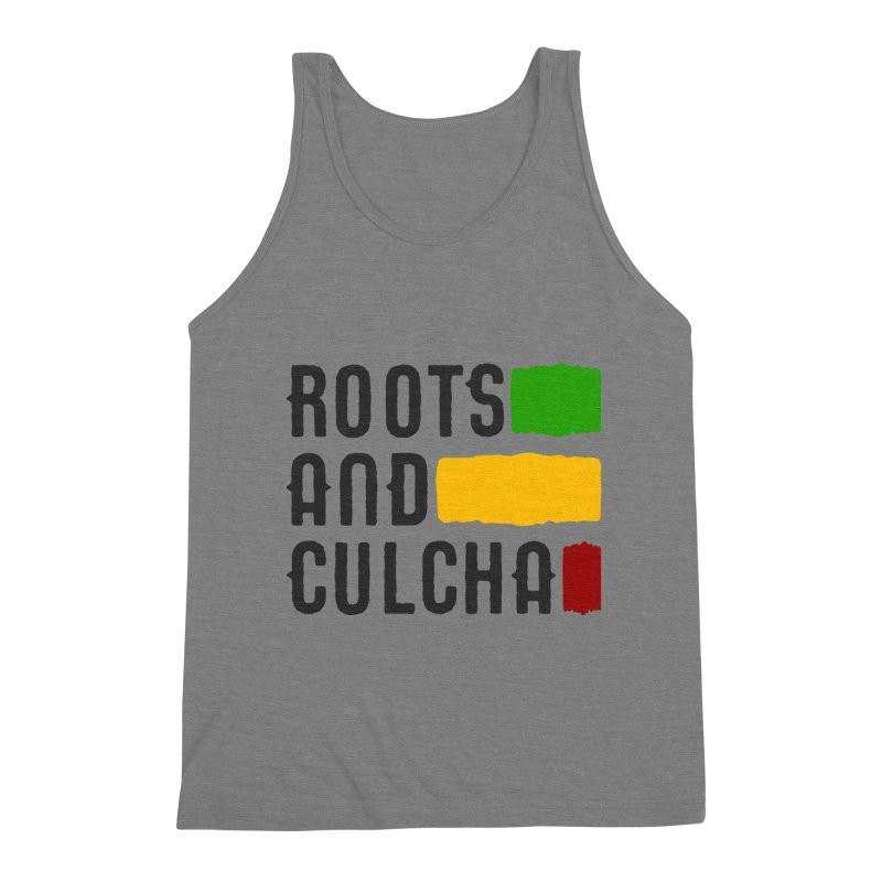 Roots and Culcha (Dark) Men's Triblend Tank by Rasta University Shop