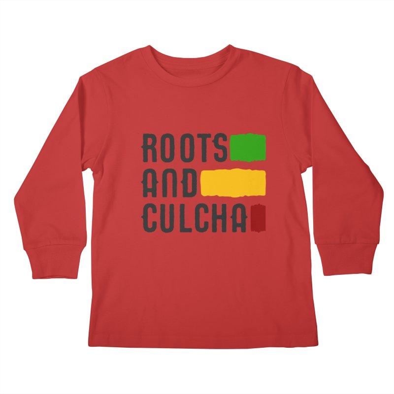 Roots and Culcha (Dark) Kids Longsleeve T-Shirt by Rasta University Shop