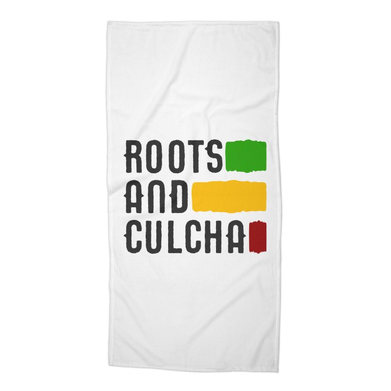 Roots and Culcha (Dark) Accessories Beach Towel by Rasta University Shop