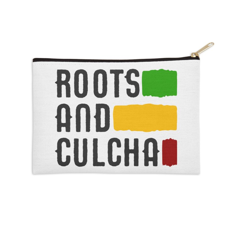 Roots and Culcha (Dark) Accessories Zip Pouch by Rasta University Shop