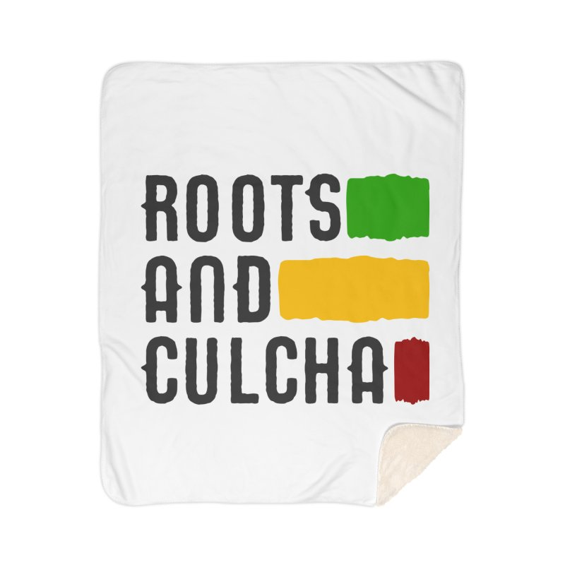 Roots and Culcha (Dark) Home Sherpa Blanket Blanket by Rasta University Shop