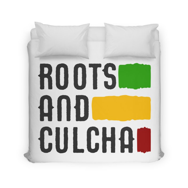 Roots and Culcha (Dark) Home Duvet by Rasta University Shop