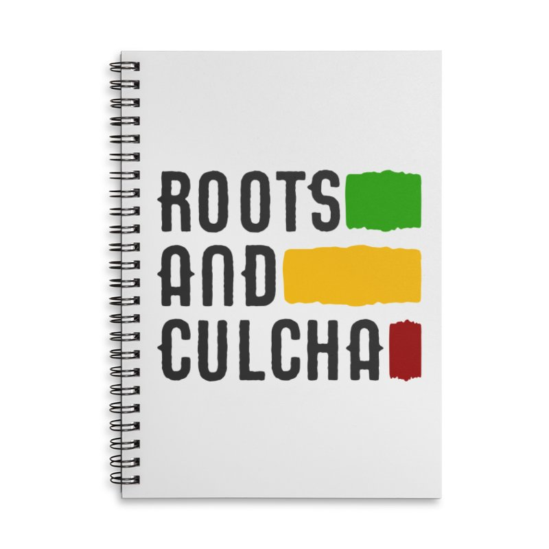 Roots and Culcha (Dark) Accessories Lined Spiral Notebook by Rasta University Shop