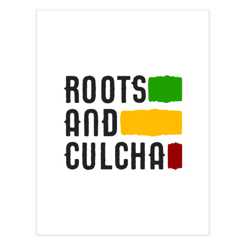 Roots and Culcha (Dark) Home Fine Art Print by Rasta University Shop