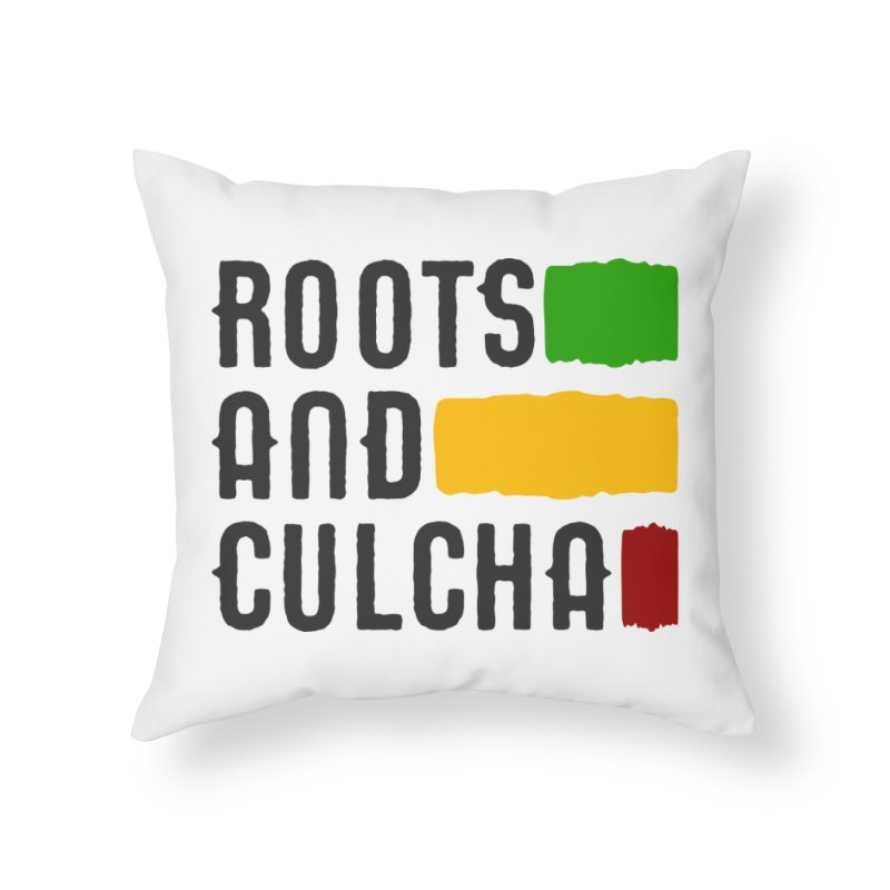Roots and Culcha (Dark) Home Throw Pillow by Rasta University Shop