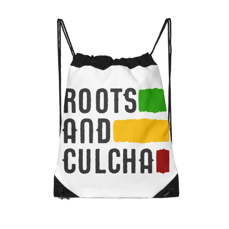 Roots and Culcha (Dark) Accessories Drawstring Bag Bag by Rasta University Shop