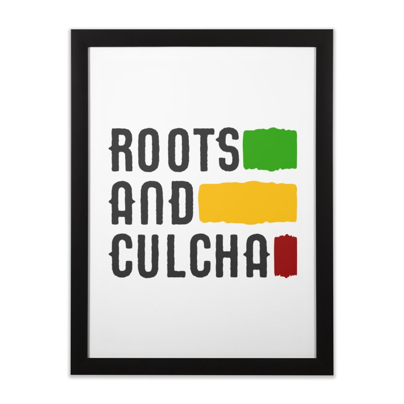 Roots and Culcha (Dark) Home Framed Fine Art Print by Rasta University Shop
