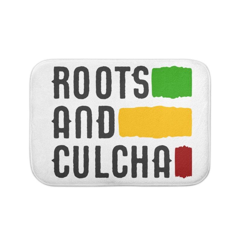 Roots and Culcha (Dark) Home Bath Mat by Rasta University Shop