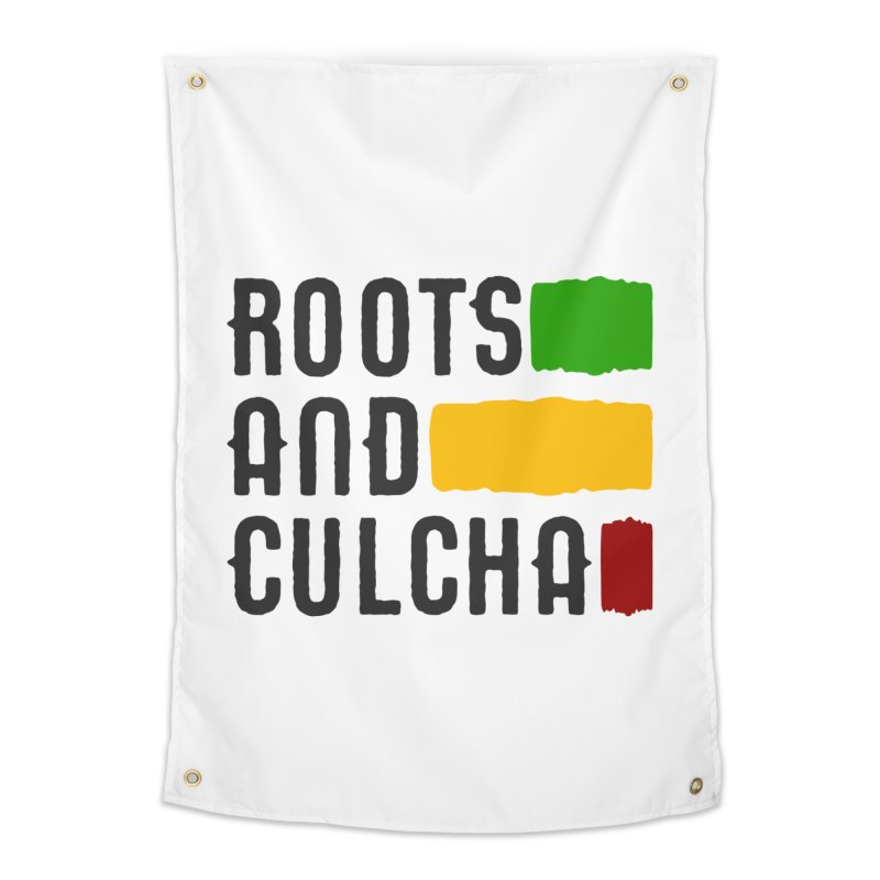 Roots and Culcha (Dark) Home Tapestry by Rasta University Shop