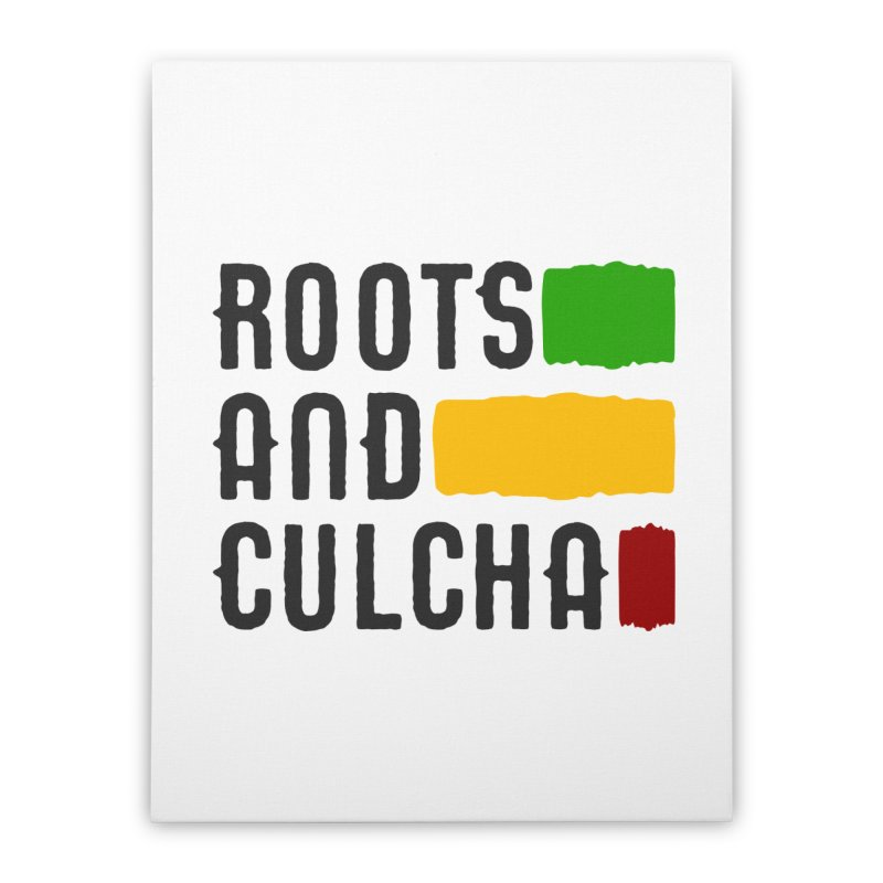 Roots and Culcha (Dark) Home Stretched Canvas by Rasta University Shop