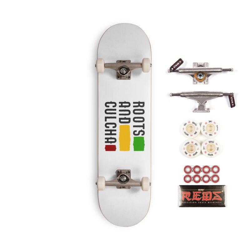 Roots and Culcha (Dark) Accessories Complete - Pro Skateboard by Rasta University Shop