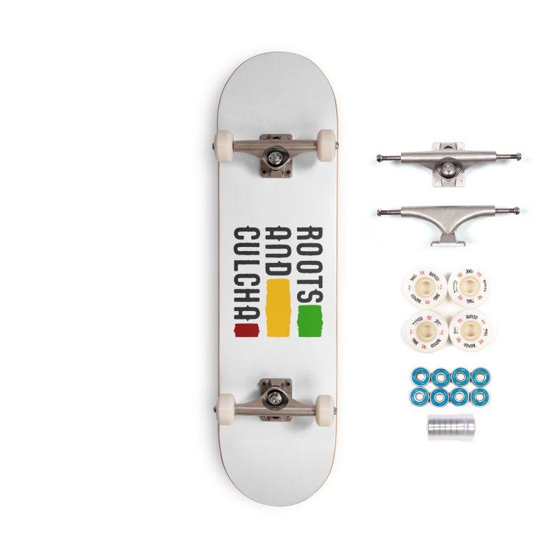Roots and Culcha (Dark) Accessories Complete - Premium Skateboard by Rasta University Shop
