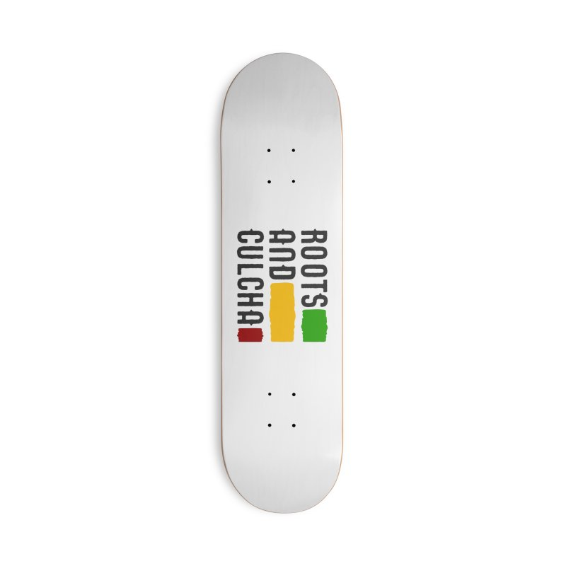 Roots and Culcha (Dark) Accessories Deck Only Skateboard by Rasta University Shop