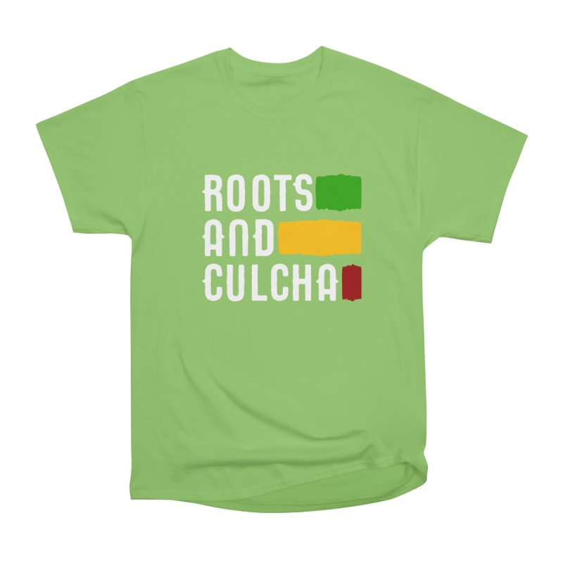 Roots and Culcha (Light) Men's Heavyweight T-Shirt by Rasta University Shop