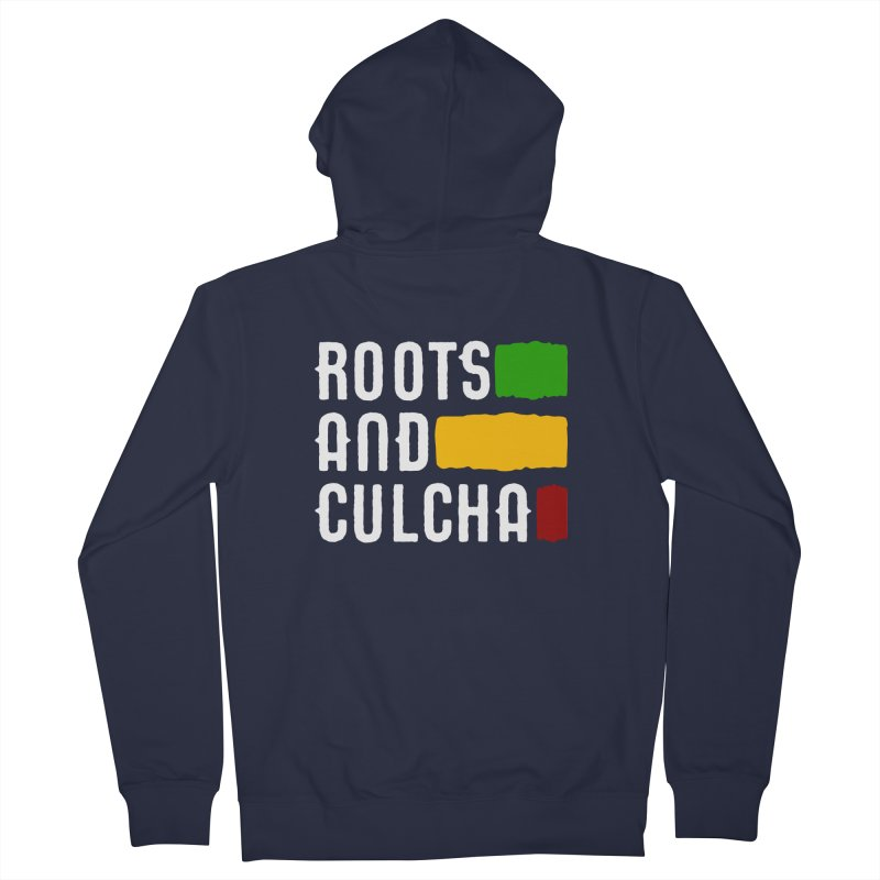 Roots and Culcha (Light) Men's French Terry Zip-Up Hoody by Rasta University Shop