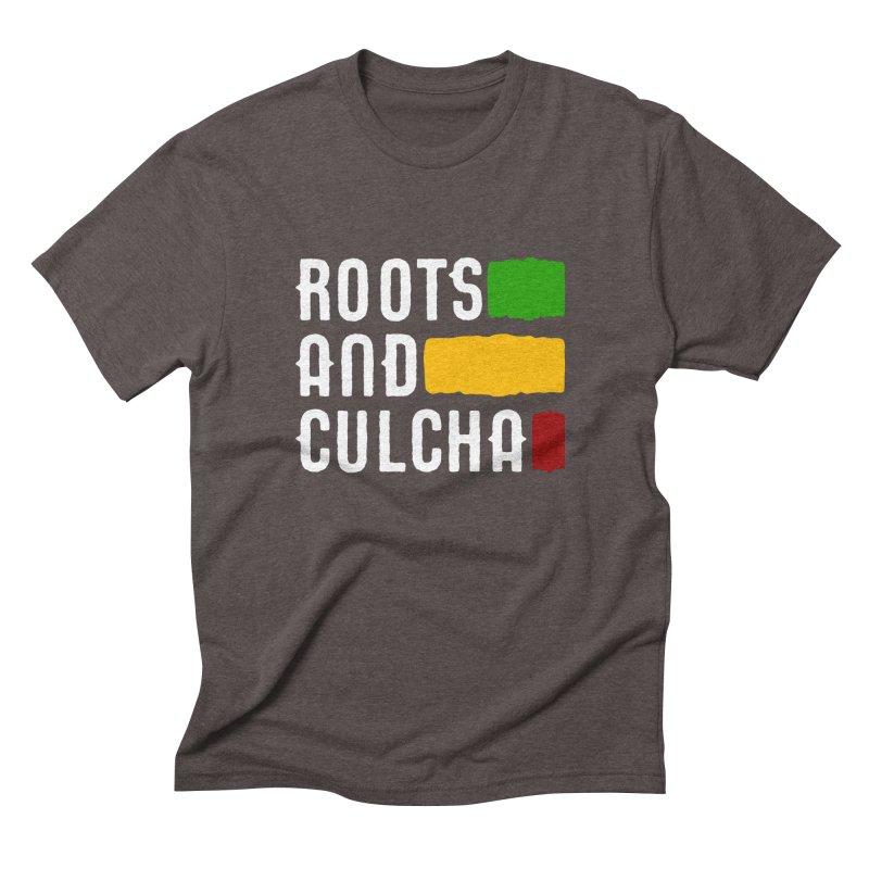 Roots and Culcha (Light) Men's Triblend T-Shirt by Rasta University Shop