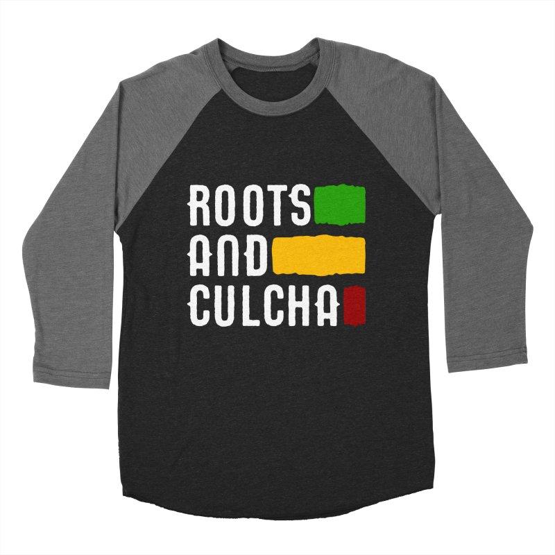 Roots and Culcha (Light) Men's Baseball Triblend T-Shirt by Rasta University Shop