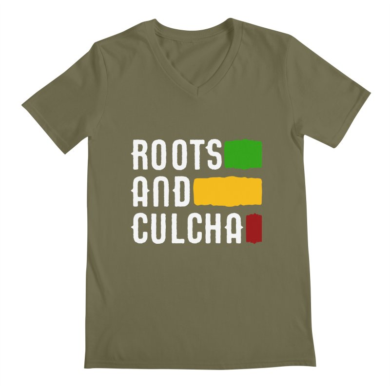 Roots and Culcha (Light) Men's Regular V-Neck by Rasta University Shop