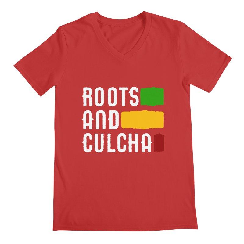 Roots and Culcha (Light) Men's Regular V-Neck by Rasta University Shop