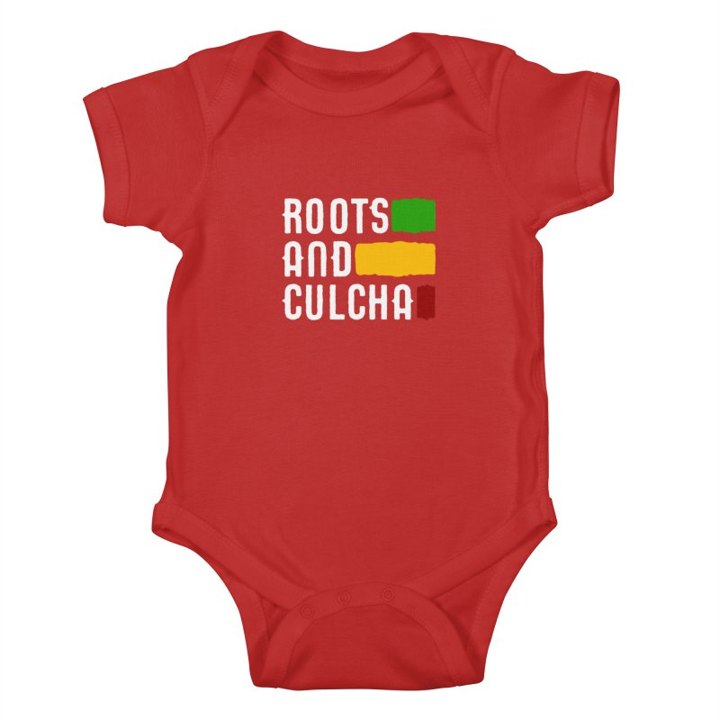 Roots and Culcha (Light) Kids Baby Bodysuit by Rasta University Shop