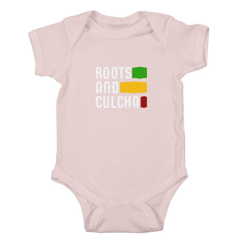Roots and Culcha (Light) Kids Baby Bodysuit by Rasta University Shop