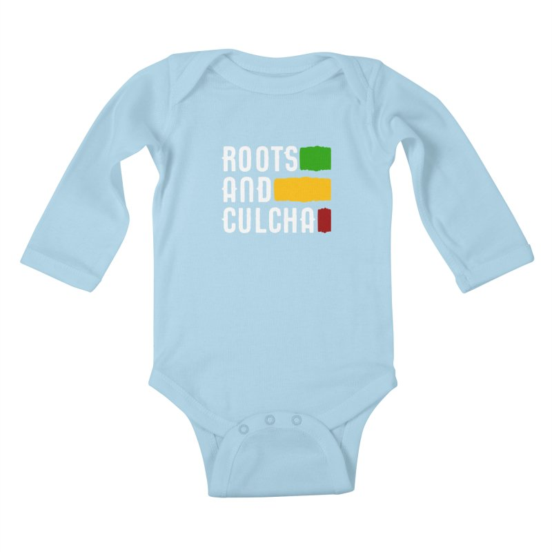 Roots and Culcha (Light) Kids Baby Longsleeve Bodysuit by Rasta University Shop