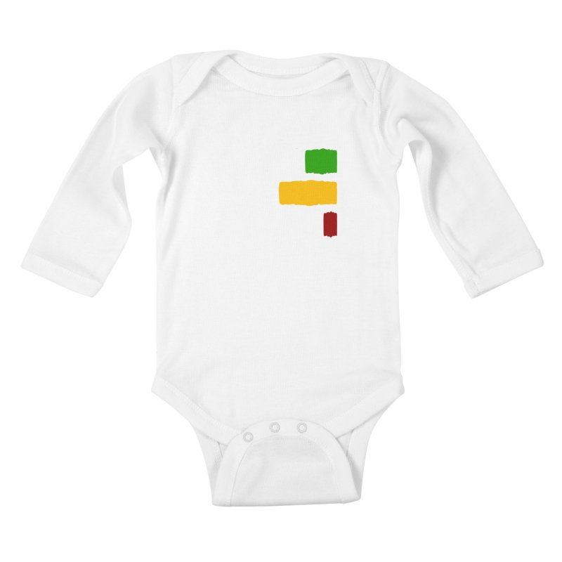 Roots and Culcha (Light) Kids Baby Longsleeve Bodysuit by Rasta University Shop