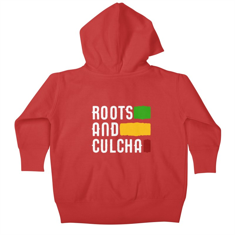 Roots and Culcha (Light) Kids Baby Zip-Up Hoody by Rasta University Shop