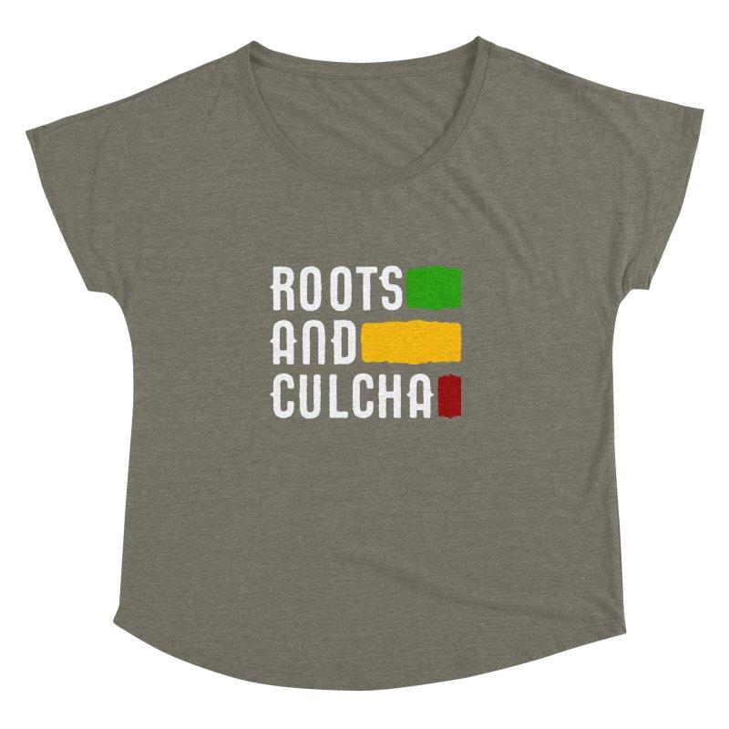Roots and Culcha (Light) Women's Dolman Scoop Neck by Rasta University Shop