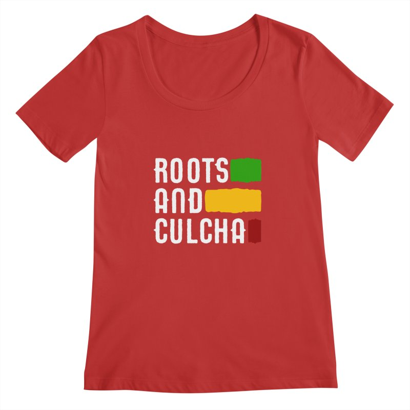 Roots and Culcha (Light) Women's Regular Scoop Neck by Rasta University Shop