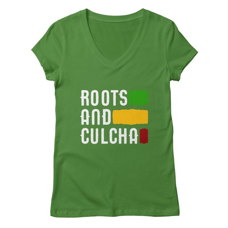 Roots and Culcha (Light) Women's V-Neck by Rasta University Shop